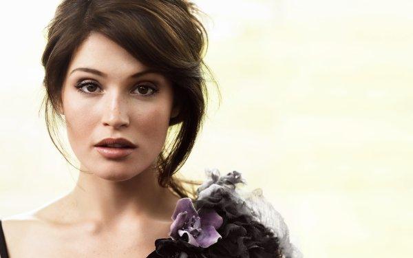 Celebrity Gemma Arterton Actresses United Kingdom Actress Brunette Face Woman HD Wallpaper | Background Image