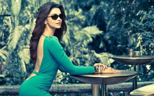 Celebrity Deepika Padukone Actresses India Indian Actress Model Woman Sunglasses Long Hair Brown Hair Green Dress HD Wallpaper | Background Image