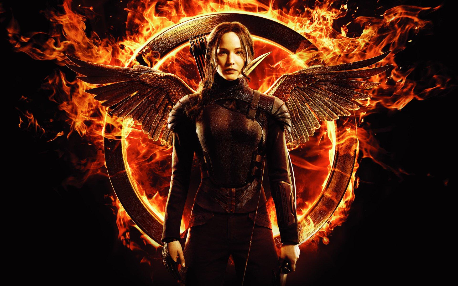 Movie - The Hunger Games: Mockingjay - Part 1  Jennifer Lawrence Fire Katniss Everdeen Wallpaper