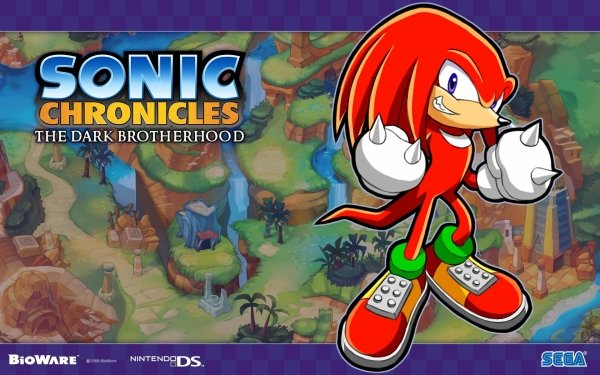 Video Game Sonic Chronicles: The Dark Brotherhood Sonic Knuckles the Echidna HD Wallpaper   Background Image