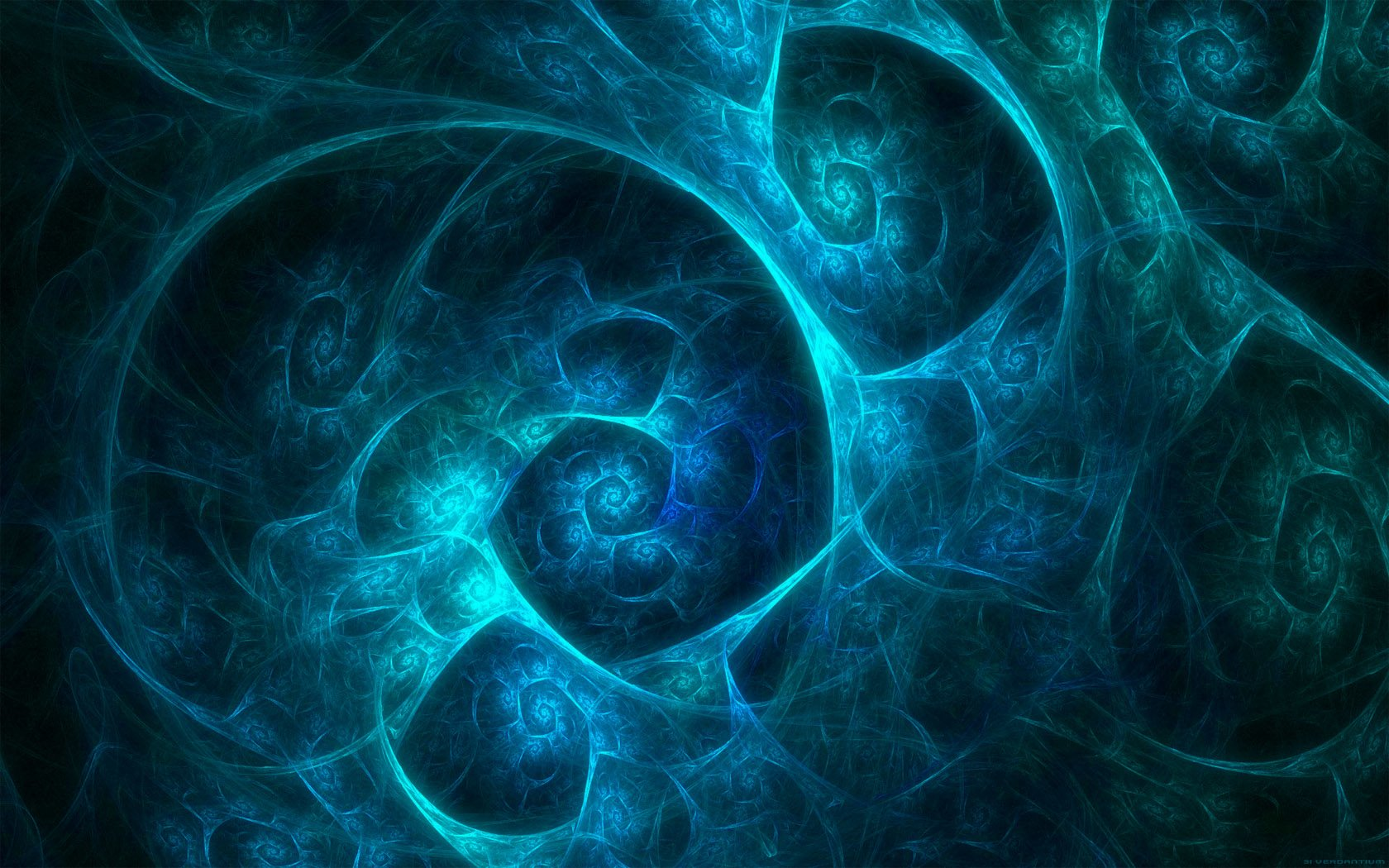 Abstract - Blue  Fractal Abstract Artistic Digital Art Wallpaper