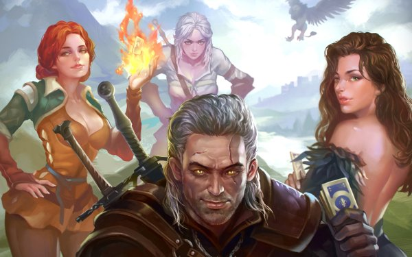 Video Game The Witcher 3: Wild Hunt The Witcher Geralt of Rivia Ciri Triss Merigold Yennefer of Vengerberg HD Wallpaper | Background Image