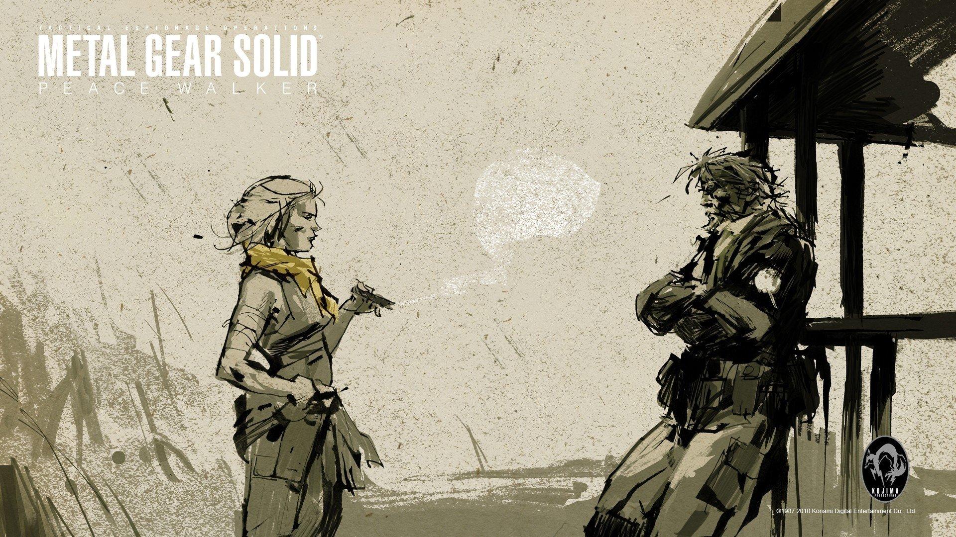 Metal Gear Solid Peace Walker Hd Wallpaper Background Image