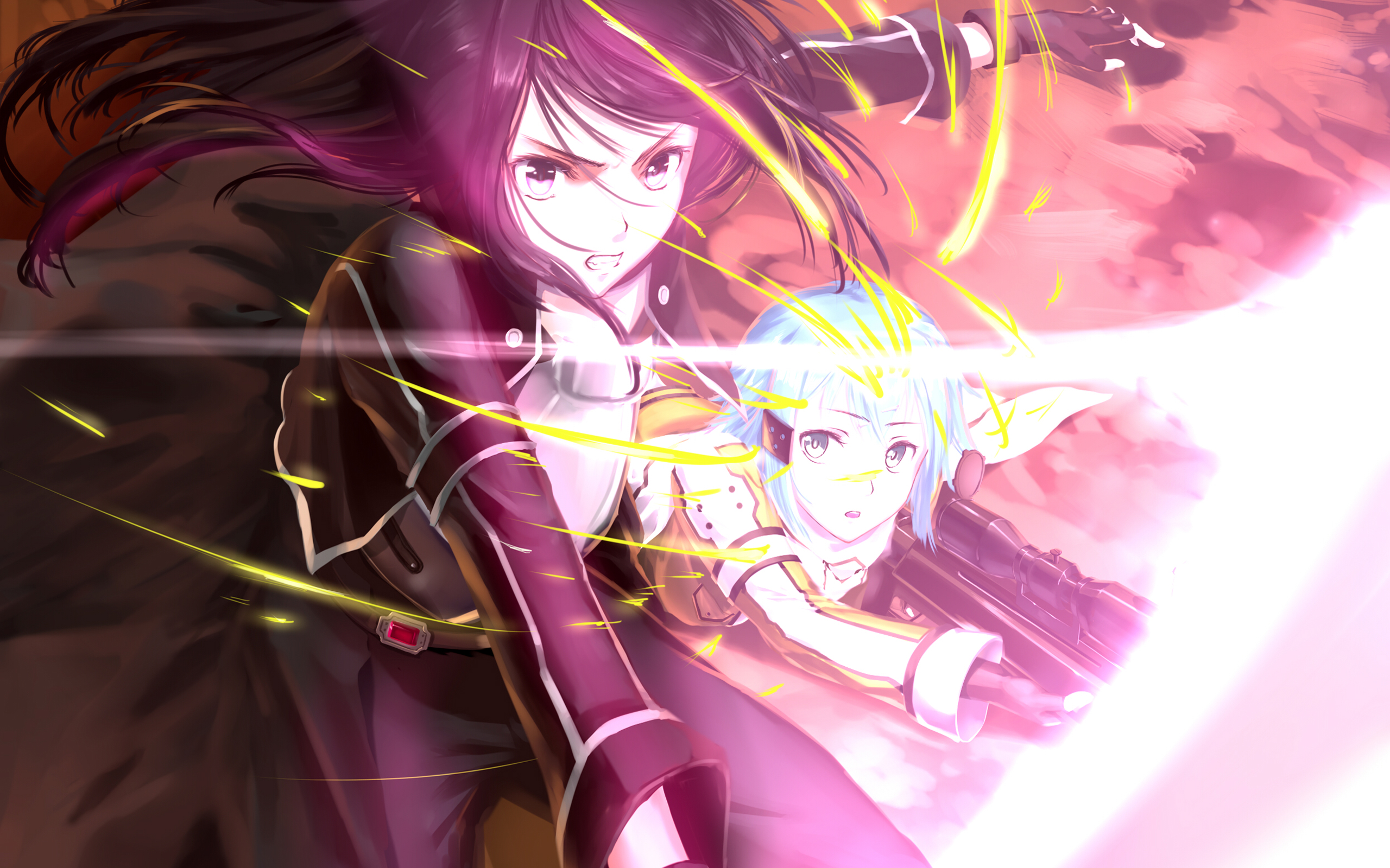 Kirito And Sinon Hd Wallpaper Background Image 2560x1600 Id