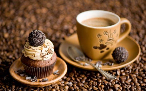 Food Coffee Cupcake HD Wallpaper | Background Image