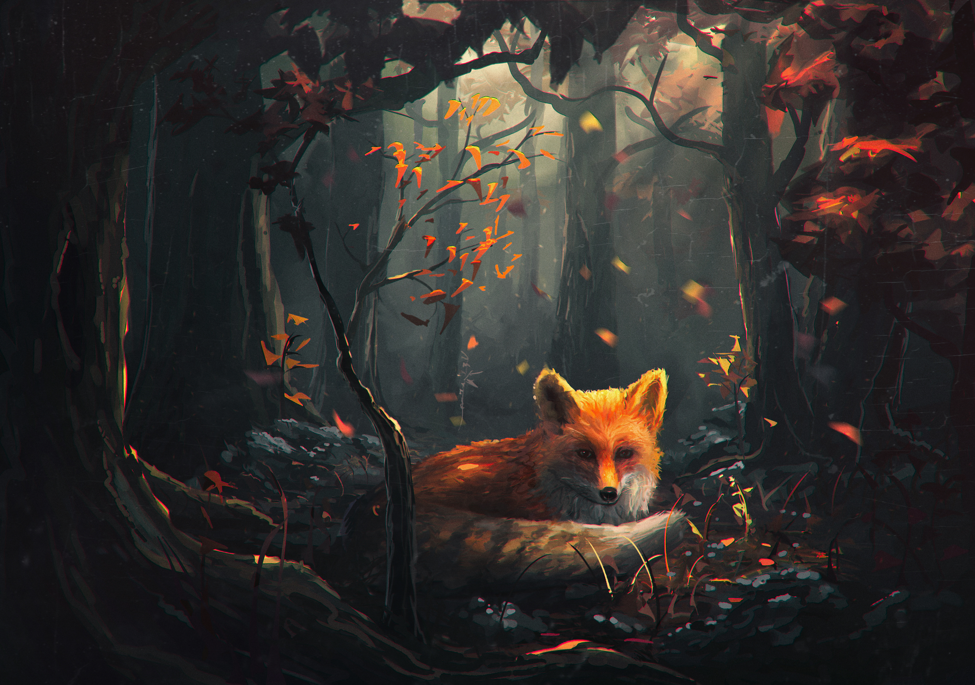 Red Fox In Autumn Forest Fondo De Pantalla Hd Fondo De