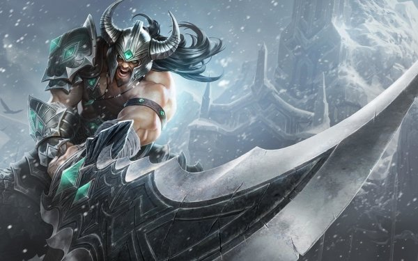 Video Game League Of Legends Tryndamere Warrior Sword HD Wallpaper | Background Image