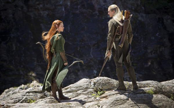 Film Le Hobbit : la Désolation de Smaug Orlando Bloom Evangeline Lilly Fond d'écran HD | Arrière-Plan