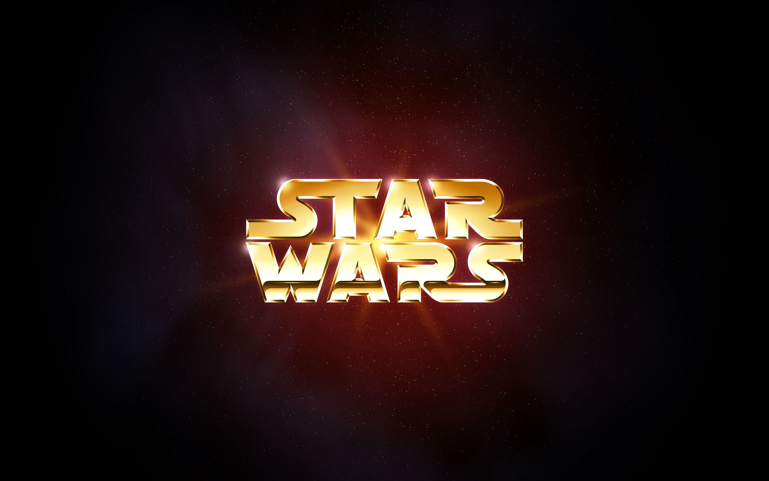 Sci Fi - Star Wars Logo Minimalist Wallpaper