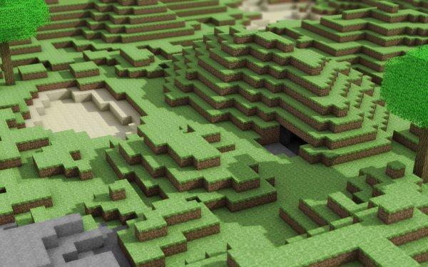 Video Game Minecraft Terrain HD Wallpaper   Background Image