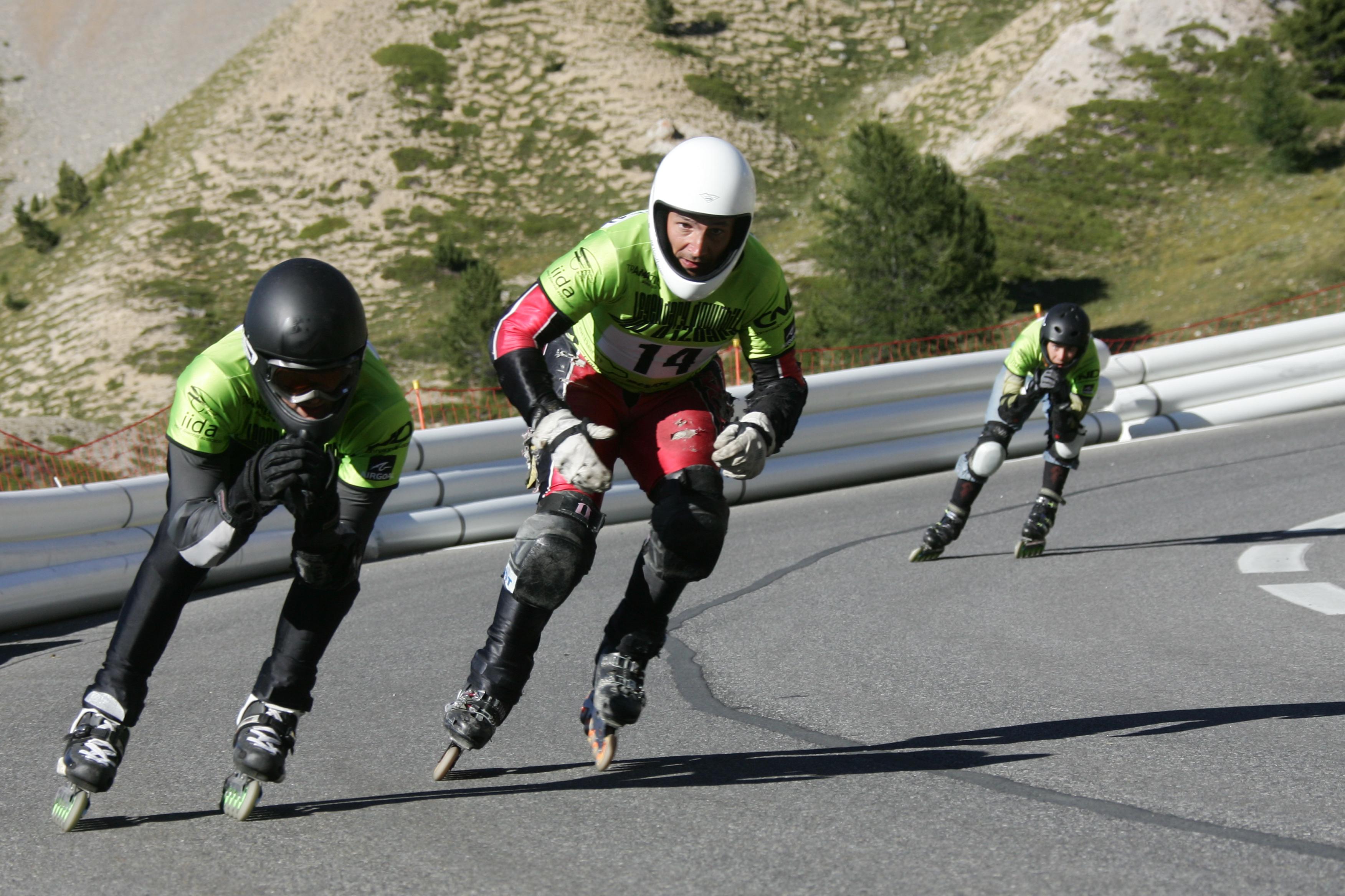 Inline speed skating wallpaper