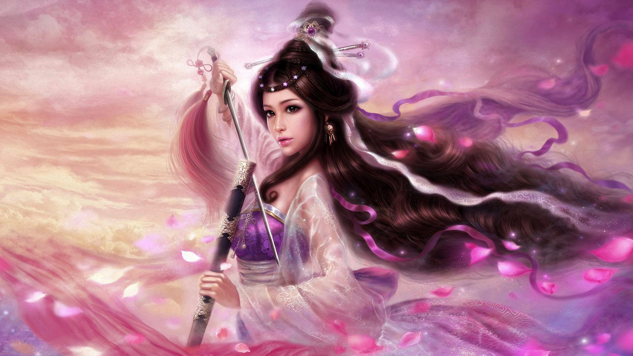 Fantasy - Women Warrior  Sword Princess Warrior Fantasy Wallpaper