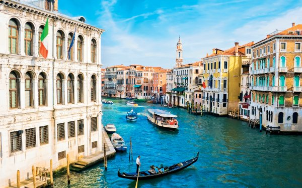 Man Made Venice Cities Italy City Canal Gondola HD Wallpaper | Background Image
