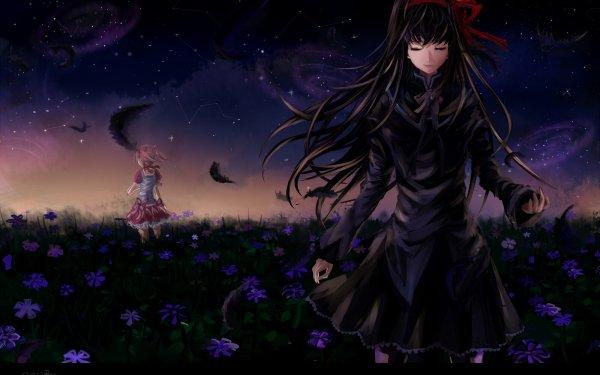 Anime Puella Magi Madoka Magica Homura Akemi Madoka Kaname HD Wallpaper | Background Image