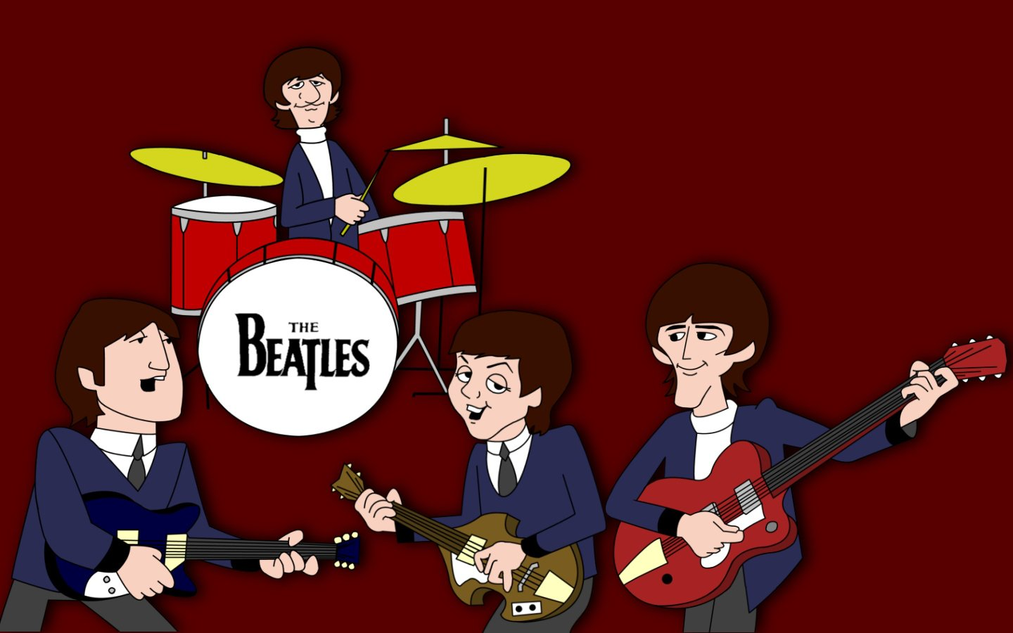 The Beatles Cartoon TV Show Wallpaper and Background Image ...