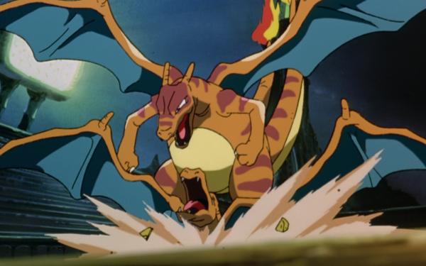 Anime Pokémon The Movie: Mewtwo Strikes Back Pokémon Charizard Fondo de pantalla HD | Fondo de Escritorio