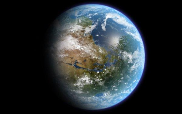 Ciencia ficción Planeta Tierra Espacio Fondo de pantalla HD | Fondo de Escritorio