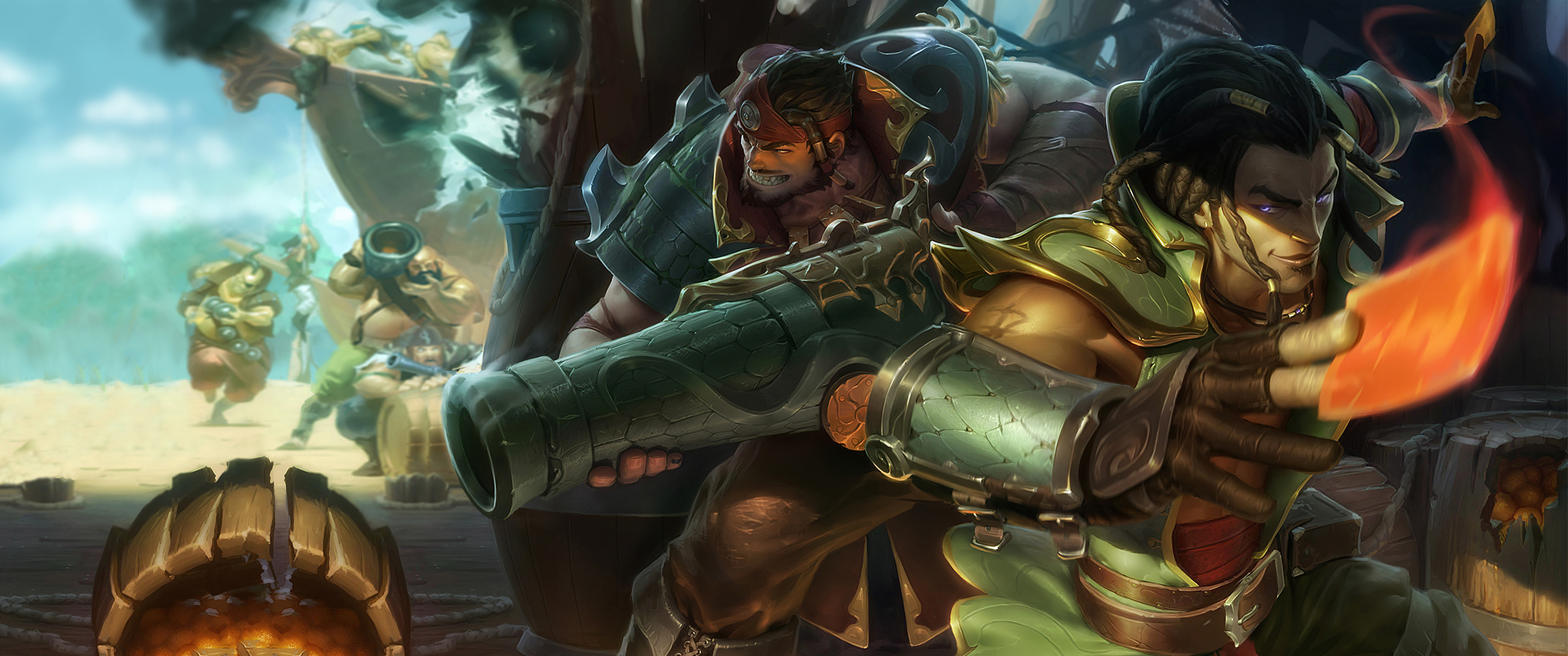 The cutthroats full hd wallpaper and background image 3440x1440 video game league of legends graves league of legends pirate twisted fate voltagebd Images
