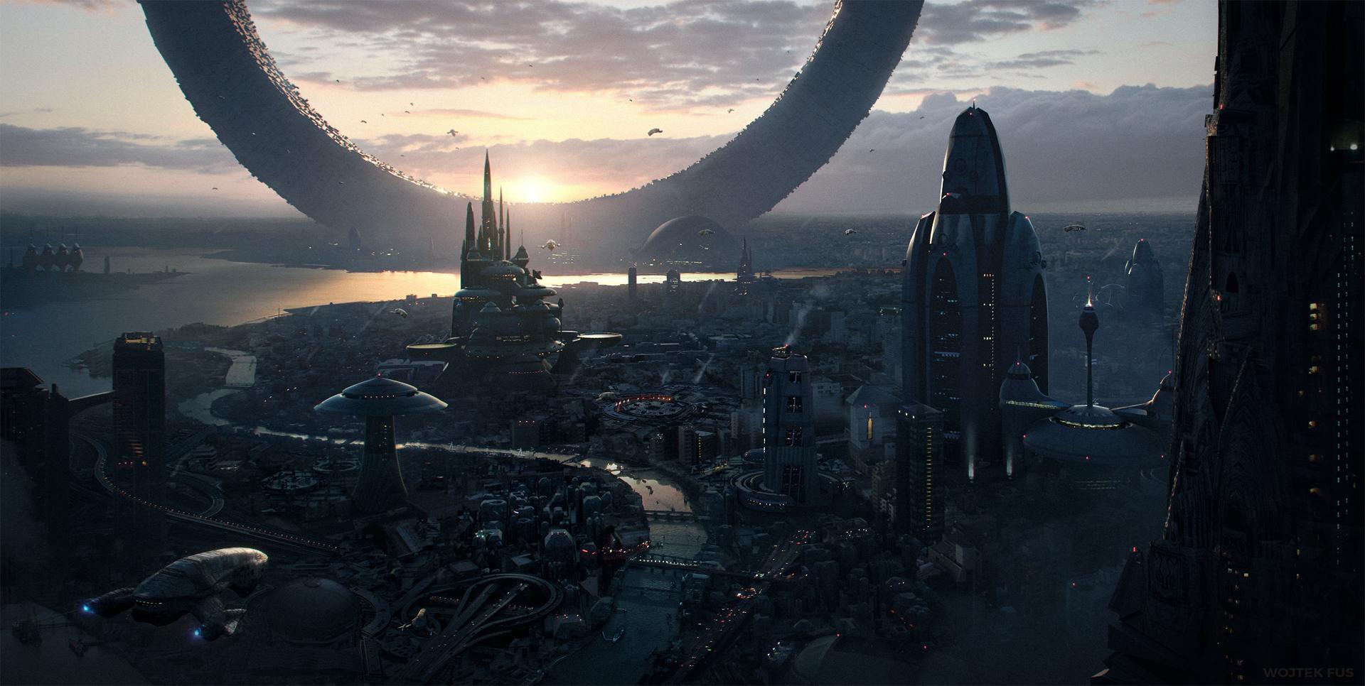 Sci Fi - City  Sci Fi Futuristic Cityscape Wallpaper