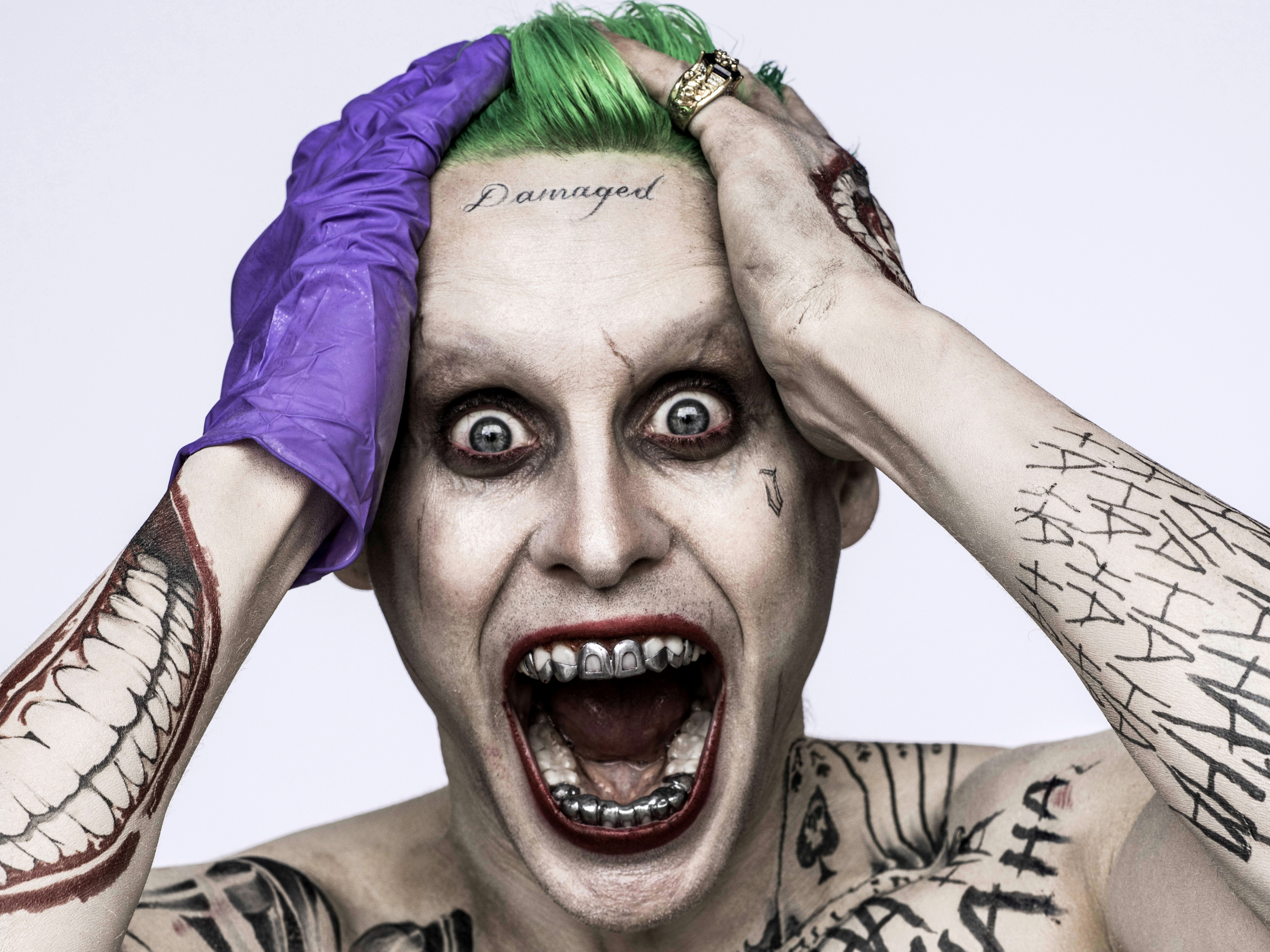 Jared leto images jared leto hd wallpaper and background photos - Harley Quinn Jared Leto Joker Margot Robbie Movie Suicide Squad Hd Wallpaper Background Id 670426