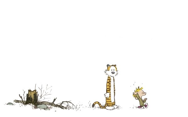Cartoon - calvin and hobbes Wallpapers and Backgrounds