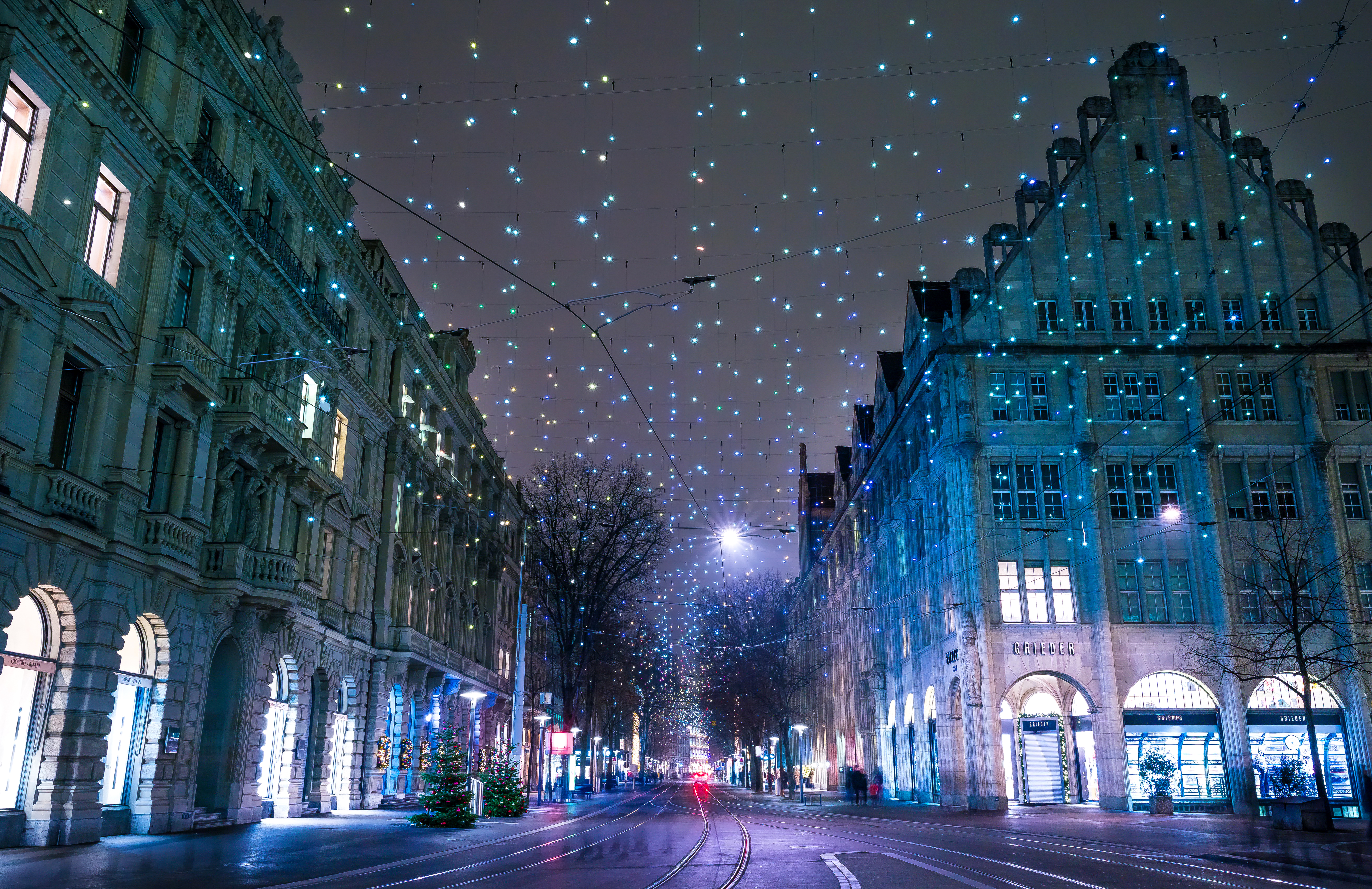 man made zurich germany christmas town snow winter wallpaper