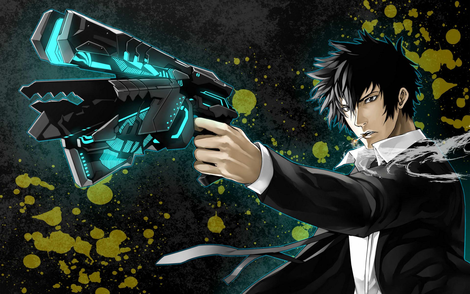 Shinya Kogami With His dominator HD Wallpaper | Background ...