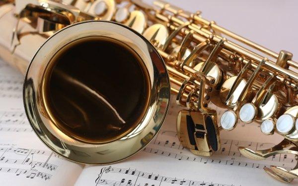 Music Saxophone Instrument Sheet Music HD Wallpaper | Background Image