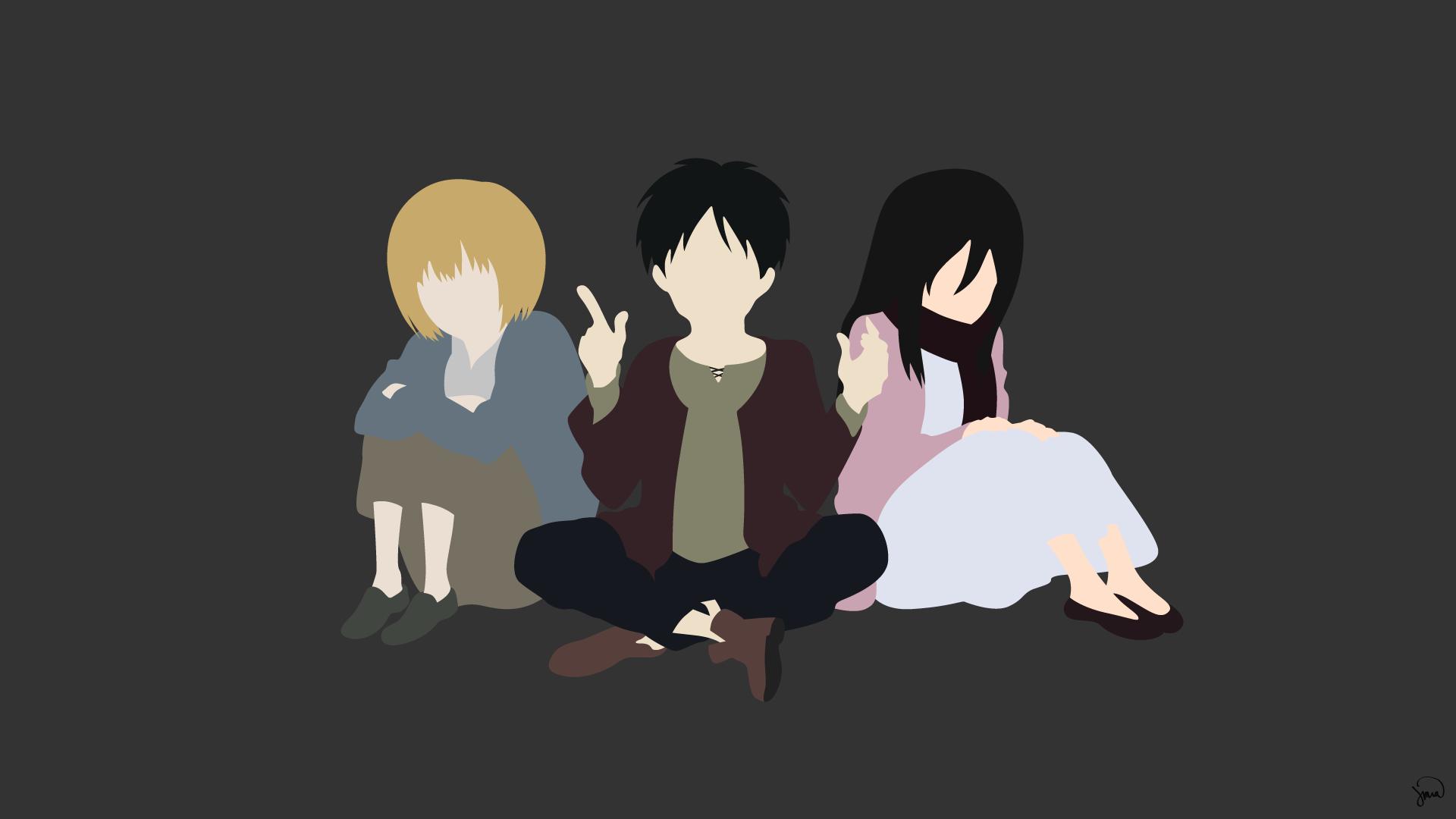 Armin Eren And Mikasa Hd Wallpaper Background Image 1920x1080