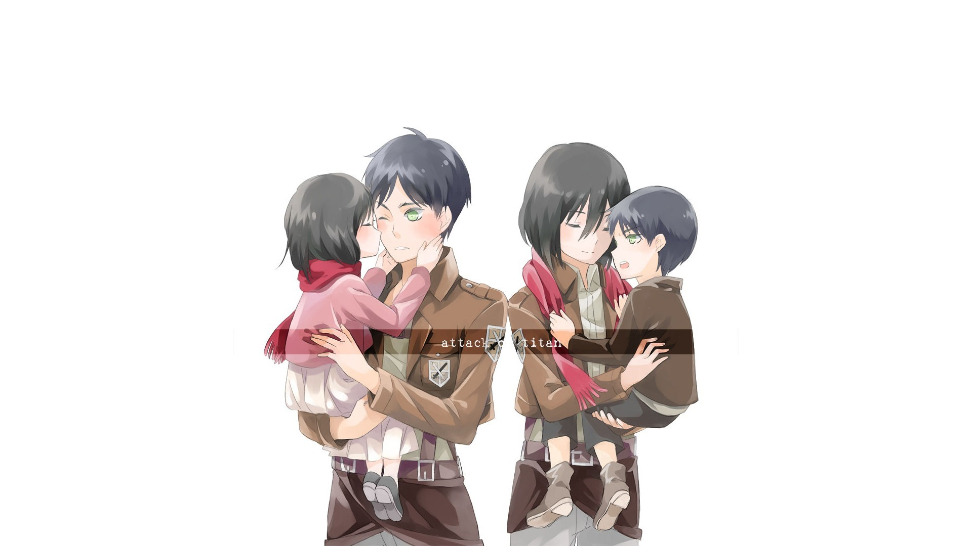 Eren And Mikasa Hd Wallpaper Background Image 1920x1080 Id 673989 Wallpaper Abyss