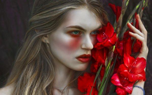 Women Mood Flower HD Wallpaper | Background Image