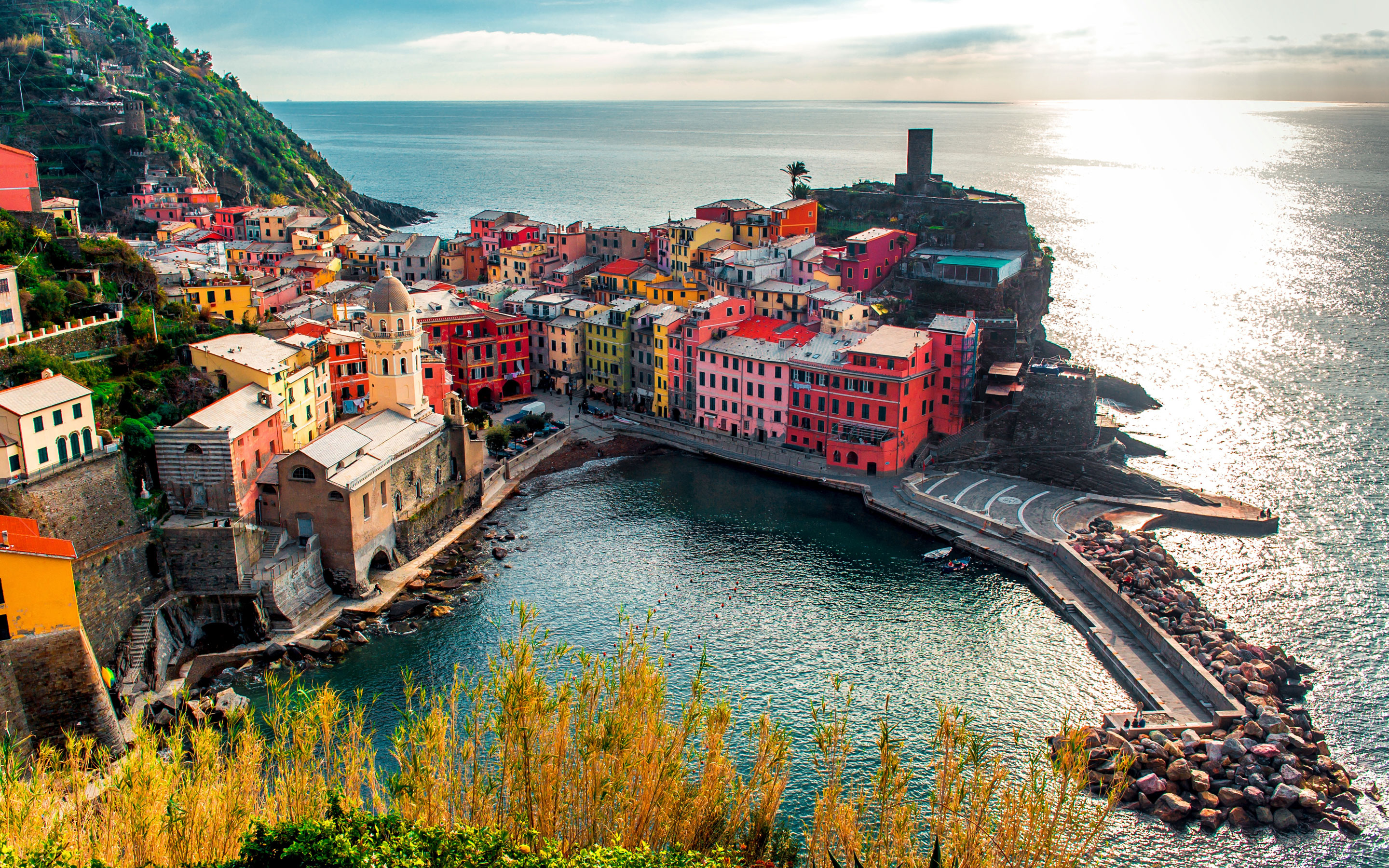 Cinque Terre Italy Full HD Wallpaper And Background Image