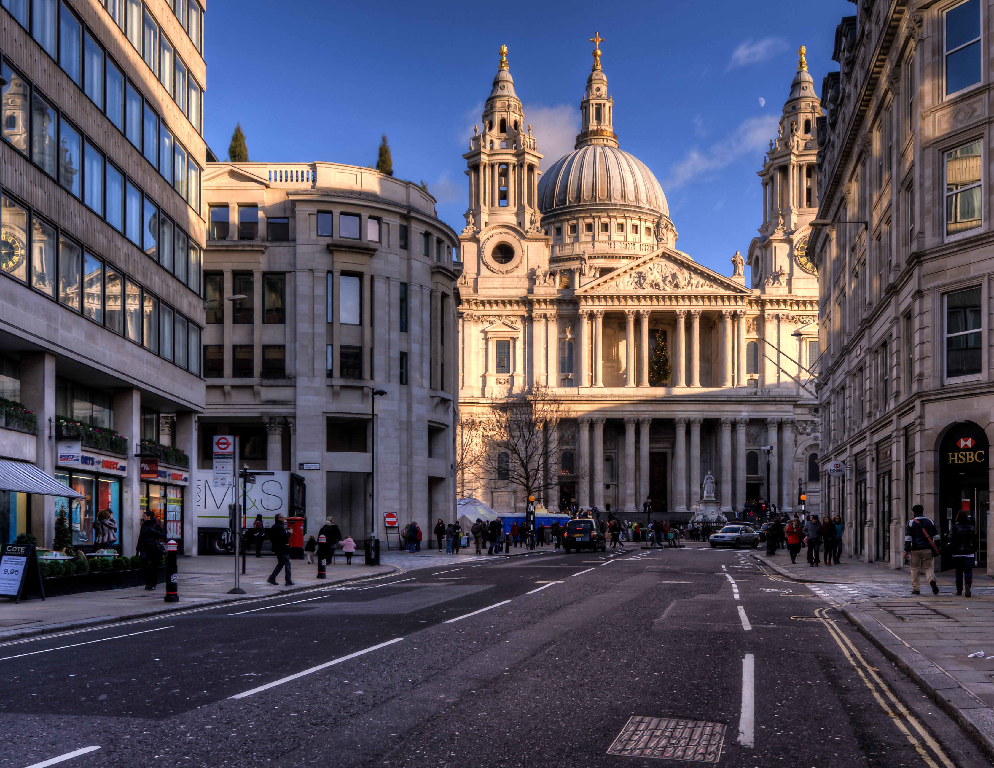 Ludgate Hill St Pauls Cathedral London Full HD Wallpaper And