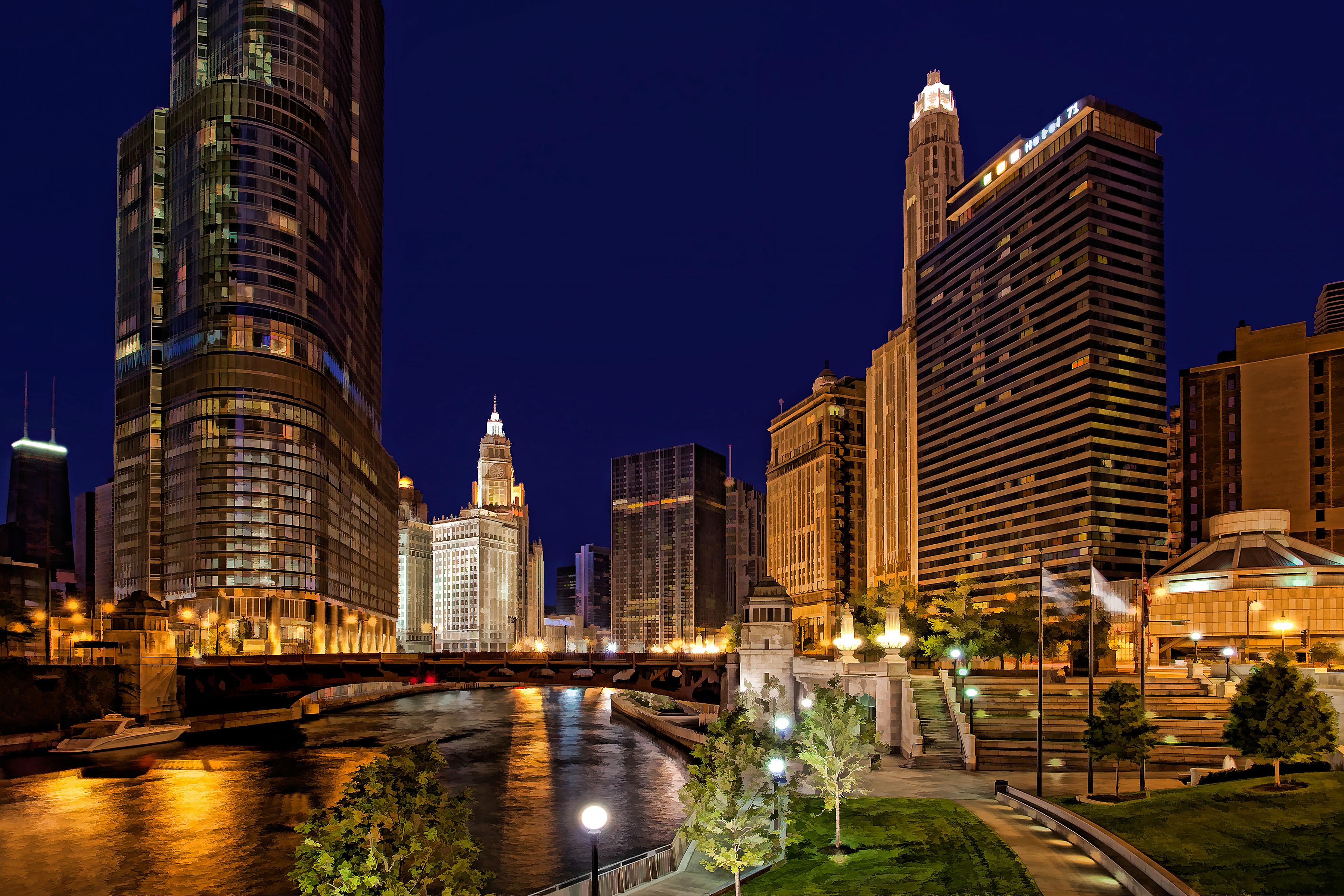 chicago skyline wallpaper iphone