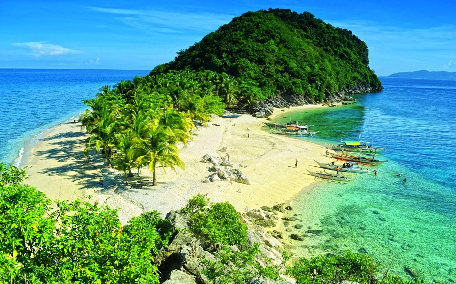Hd Tropical Island Beach Paradise Wallpapers And Backgrounds: Beach In The Phillipines Wallpaper And Background Image
