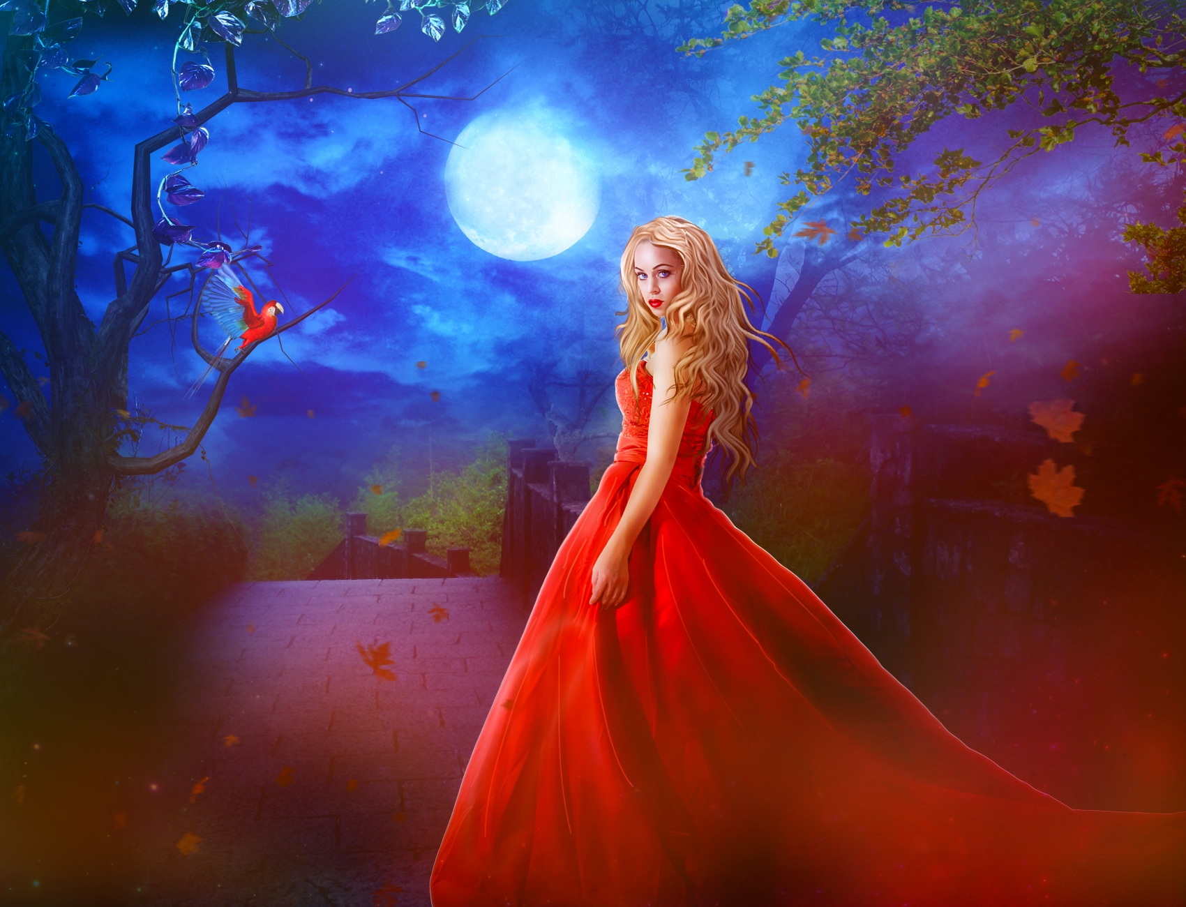 Full Moon Fantasy Wallpaper And Background Image 1700x1300 Id 680972 Wallpaper Abyss