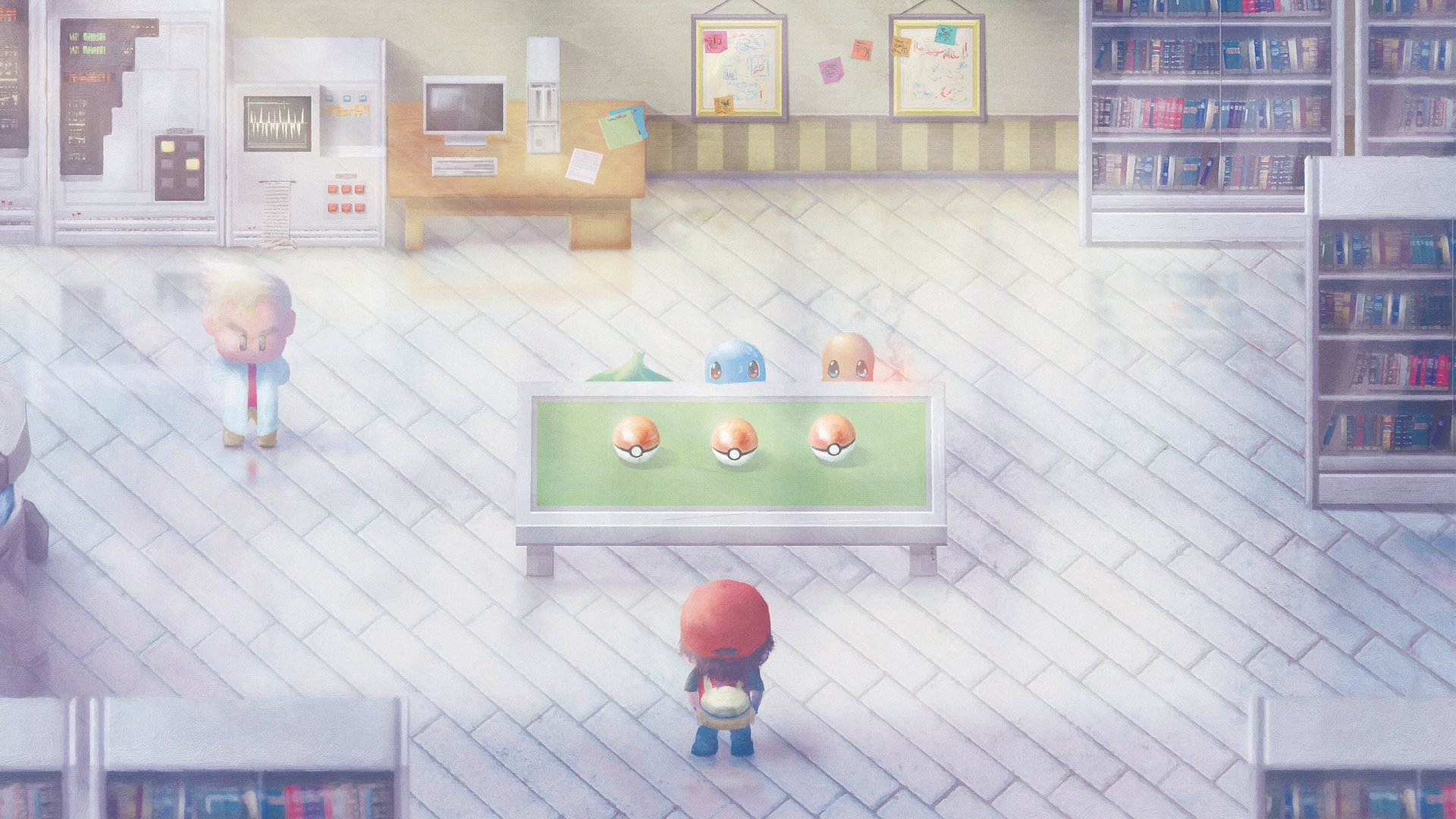 Video Game - Pokemon: Red and Blue  Pokémon Pokeball Wallpaper