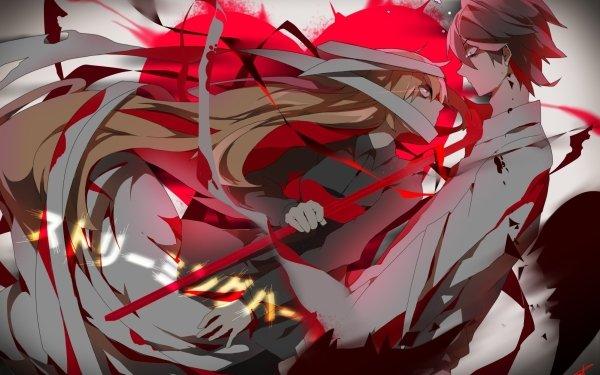 Anime Original Blonde Long Hair Osu! HD Wallpaper | Background Image