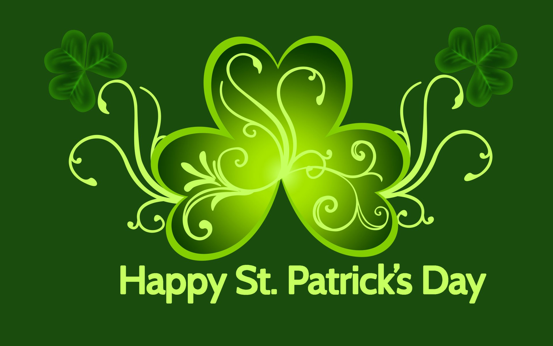 Holiday - St. Patrick's Day  Green Clover Wallpaper