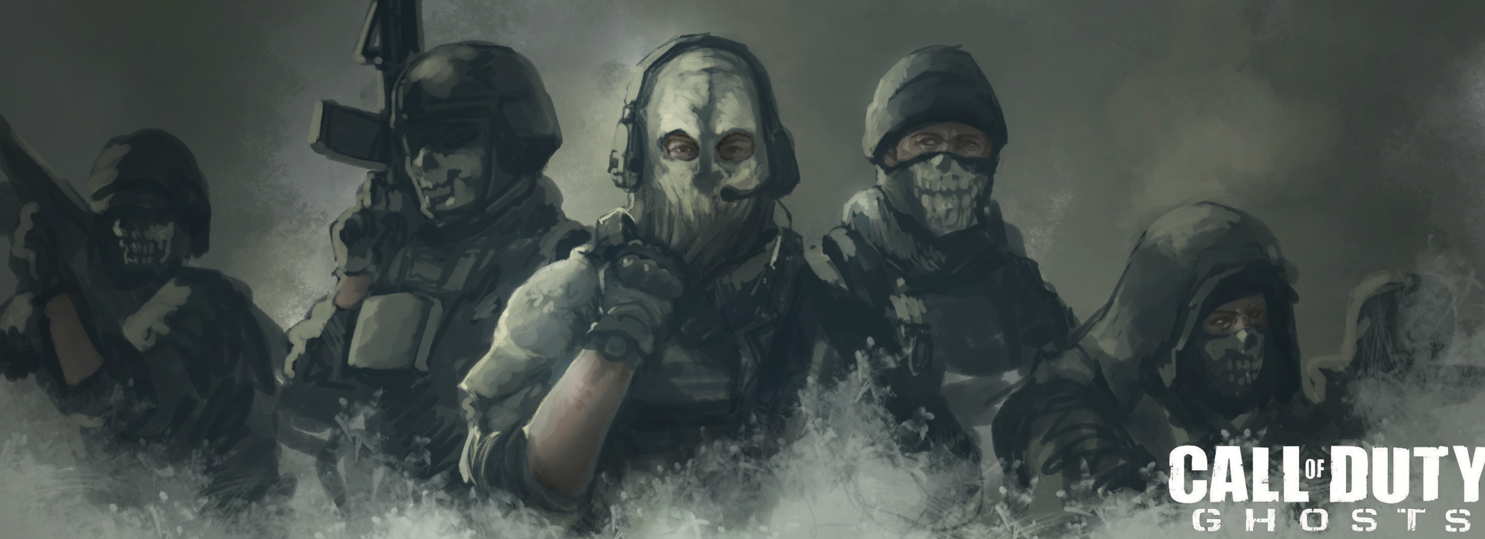 Call Of Duty Ghosts Hd Wallpaper Background Image 2972x1080