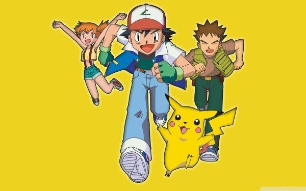 Anime Pokémon Misty Ash Ketchum Brock Pikachu Fondo de pantalla HD | Fondo de Escritorio