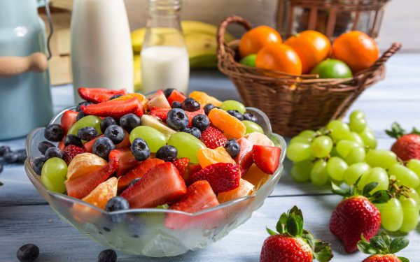 Food Fruit Fruits Berry Grapes Strawberry Blueberry Mandarin HD Wallpaper | Background Image
