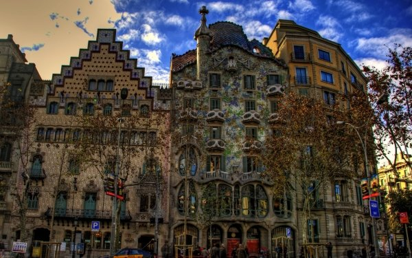 Photography HDR Barcelona Spain Building Architecture City HD Wallpaper   Background Image