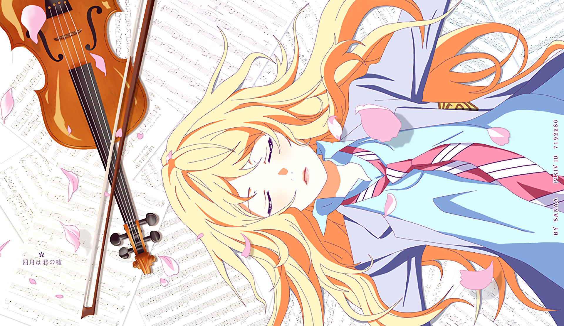 Your Lie In April Hd Wallpaper Background Image 1920x1111 Id