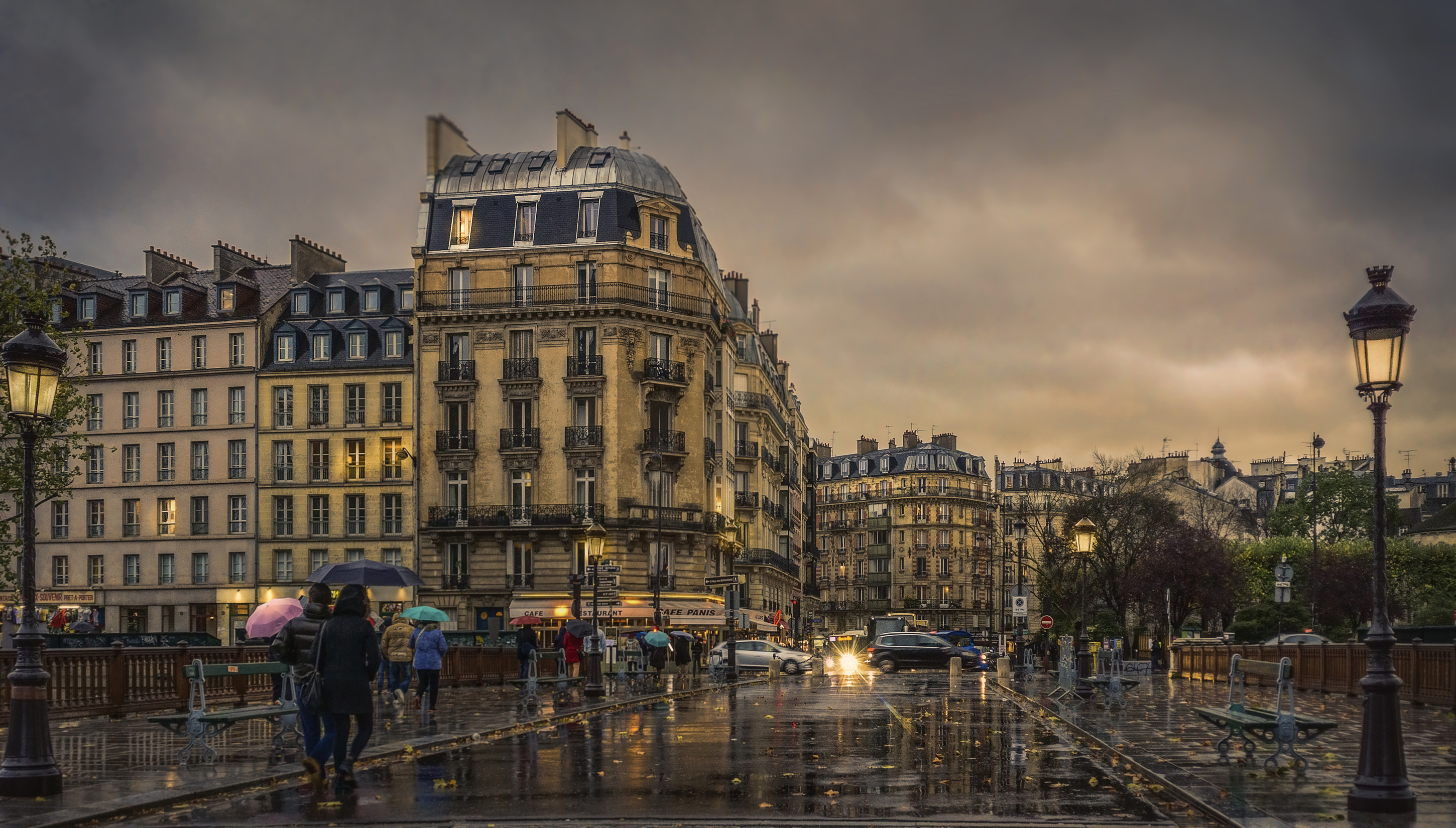 rainy afternoon in paris full hd wallpaper and background. Black Bedroom Furniture Sets. Home Design Ideas