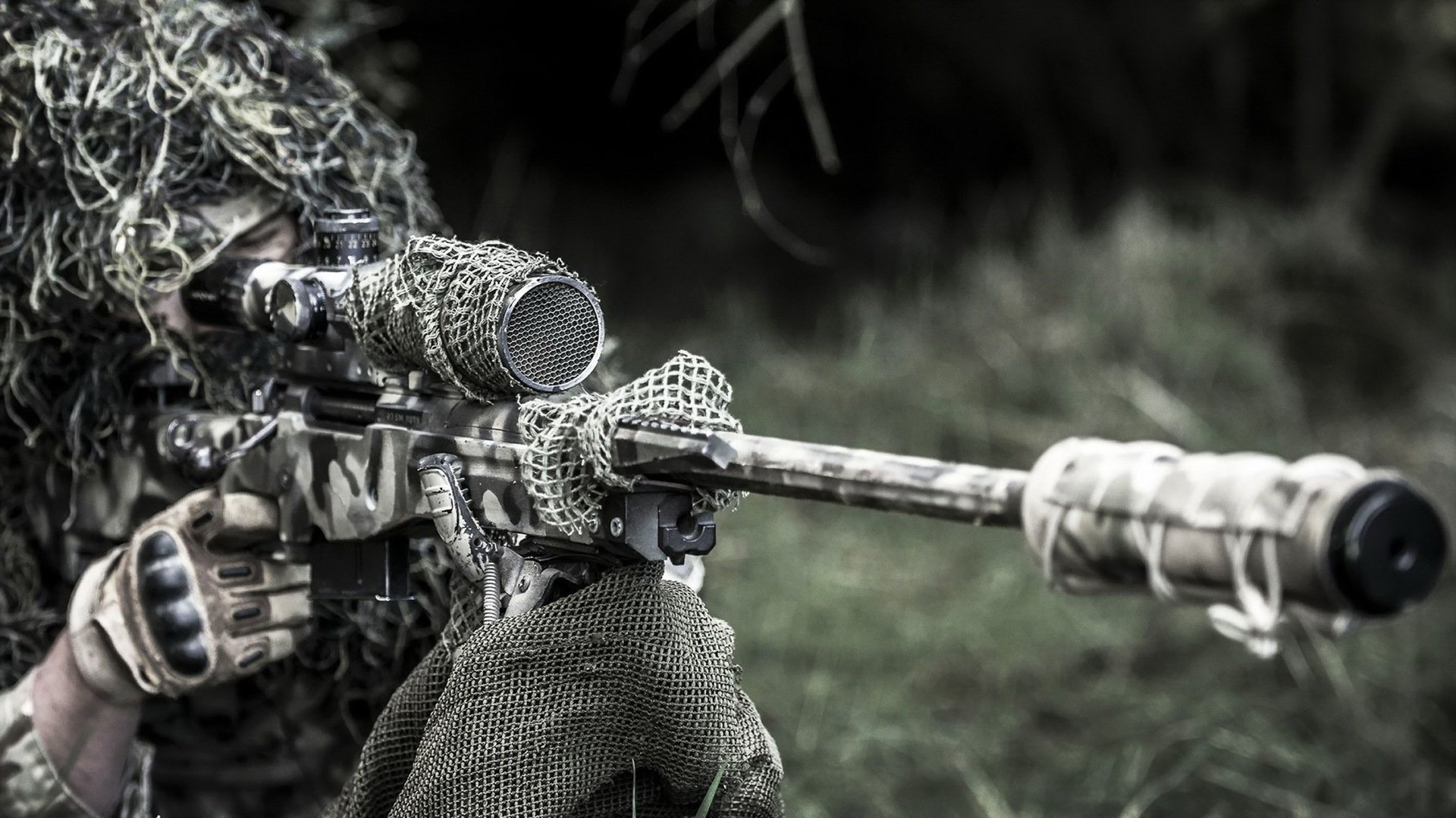 Military - Sniper  Soldier Sniper Rifle Wallpaper