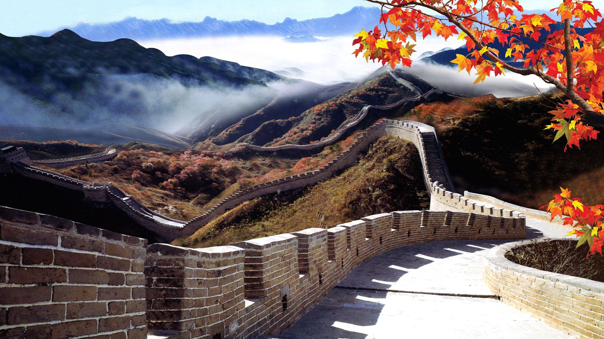 The Great Wall Of China Full HD Sfondo And Sfondi