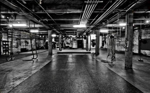 Sports Gym Boxing Black & White HD Wallpaper | Background Image