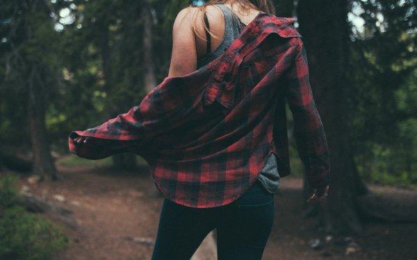 Women Rear Model Plaid Jeans HD Wallpaper | Background Image