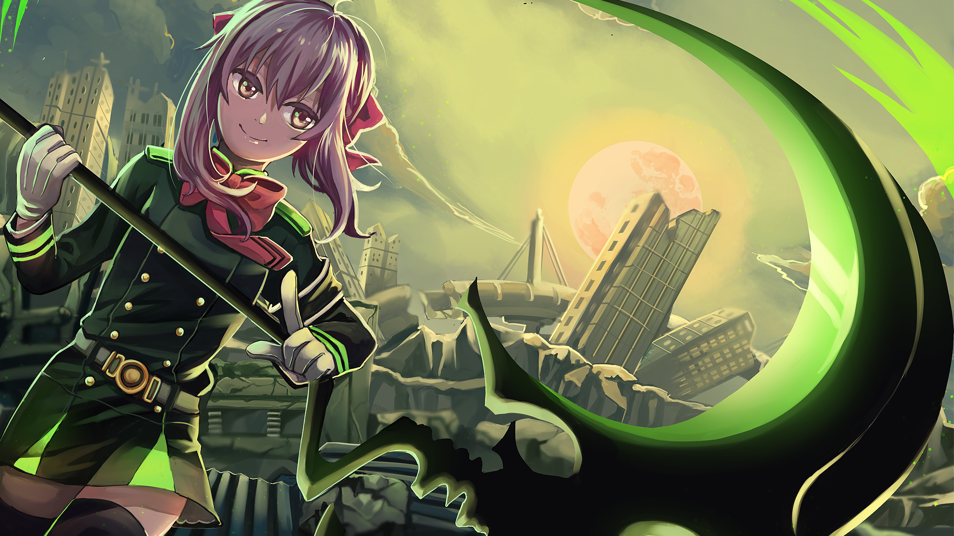 Shinoa Green Moon